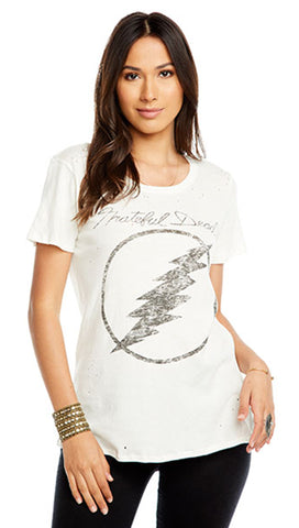 Chaser Grateful Dead Lightning Graphic Crew Neck Tee Shirt Top | ShopAA