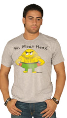 David & Goliath Mr. Meat Head Short Sleeve Mens Tee Shirt Grey ShopAA