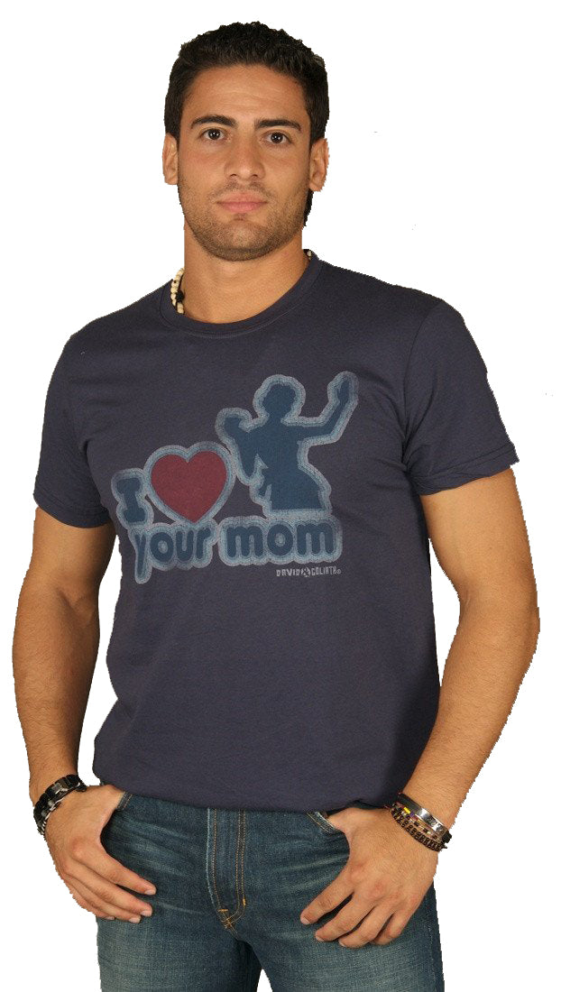 David & Goliath I Love Your Mom Mens Tee Shirt Navy Blue l ShopAA