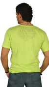 Dirtee Hollywood Mens Basic V-Neck Tee Green