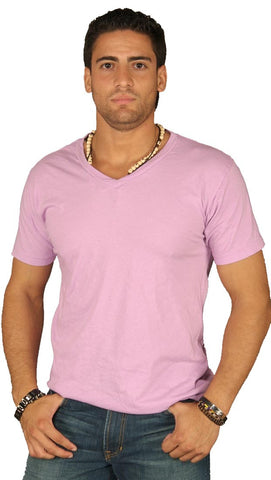Dirtee Hollywood Mens Basic V-Neck Tee Purple