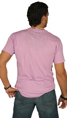 Dirtee Hollywood Mens Basic V-Neck Shirt Cotton Tee Purple