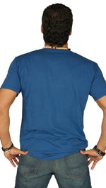 Dirtee Hollywood Mens Basic V-Neck Tee Royal Blue