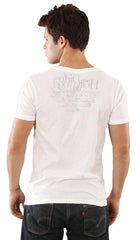 Dirtee Hollywood Mens Basic V-Neck Tee White