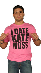 Dirtee Hollywood Date Kate Moss Tee Shirt Neon Pink Mens
