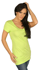 Dirtee Hollywood Basic V-Neck Tee Green