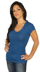 Dirtee Hollywood Basic V-Neck Tee Royal Blue