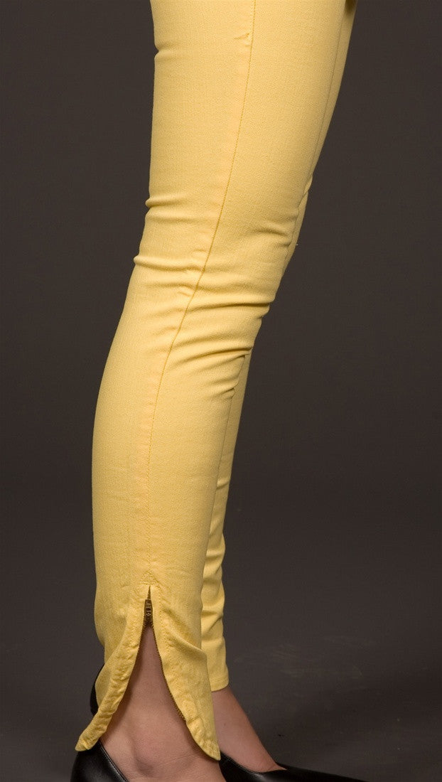 Dittos Suzie Ankle Zip Skinny Jeans in Yellow