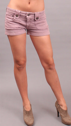 Dittos Saddleback Denim Shorts Pixie Purple
