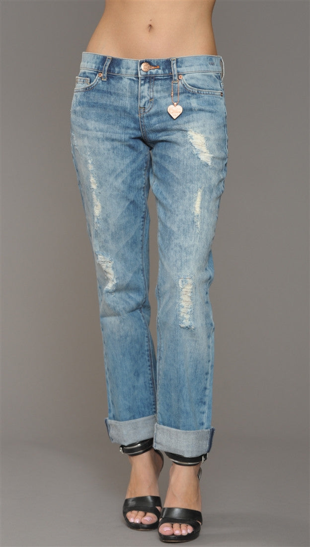 Dittos Sari Mid Rise Relaxed Straight Denim in Torino