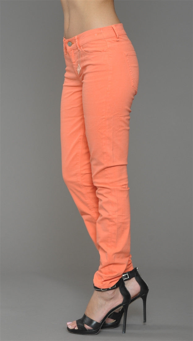 Dittos Dawn Mid Rise Skinny Jeans in Electric Sunset