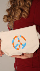 Dogeared Peace Canvas Pouch