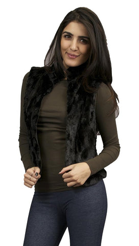 Eight Sixty Faux Fur Vest in Black