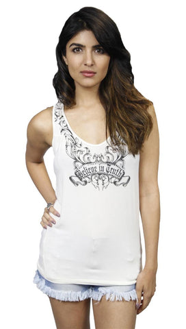Faith Connexion Believe in Truth Rhinestone Tank