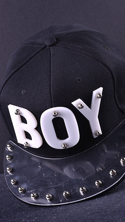 The Boy Snapback in Black