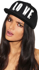The Love Snapback Hat Black