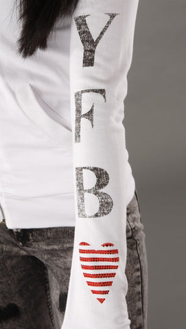 Young Fabulous & Broke Logo Hoodie in White