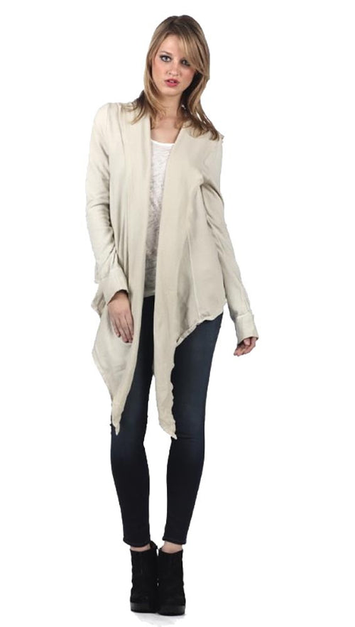 Fluxus Chelsea Cardigan Sweater Wrap in Luna Beige