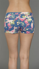 Klique B Floral Print Shorts in Navy