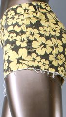 Klique B Hawaiian Print Distressed Cut Off Shorts