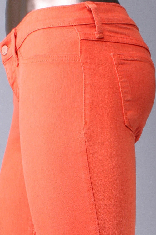 Flying Monkey Skinny Jeans in Fire Orange