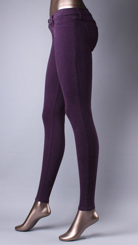 Flying Monkey Skinny Jeans in Eggplant