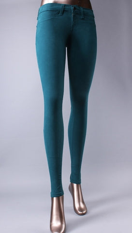 Flying Monkey Skinny Jeans in Teal