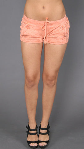 "Frankie B. Argyle ""F"" Shorts Orange"