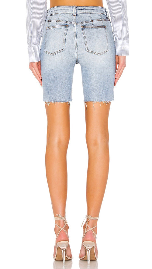 Free People Avery Bermuda Shorts Denim Blue Cutoffs I ShopAA