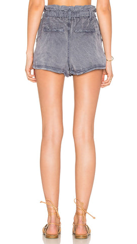 Free People High Waist Wash Out Sweat Short Lilac