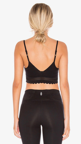 Free People Genesis Sports Bra Black Scallope Eyelet FP Movement | ShopAA