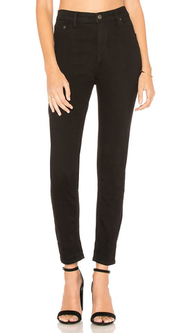 Free People Long And Lean High Rise Skinny Black Jegging l ShopAA