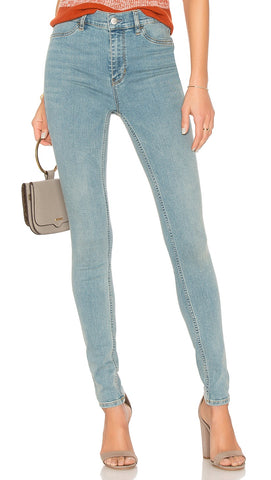 Free People Long And Lean High Rise Skinny Denim Jegging Pant l ShopAA