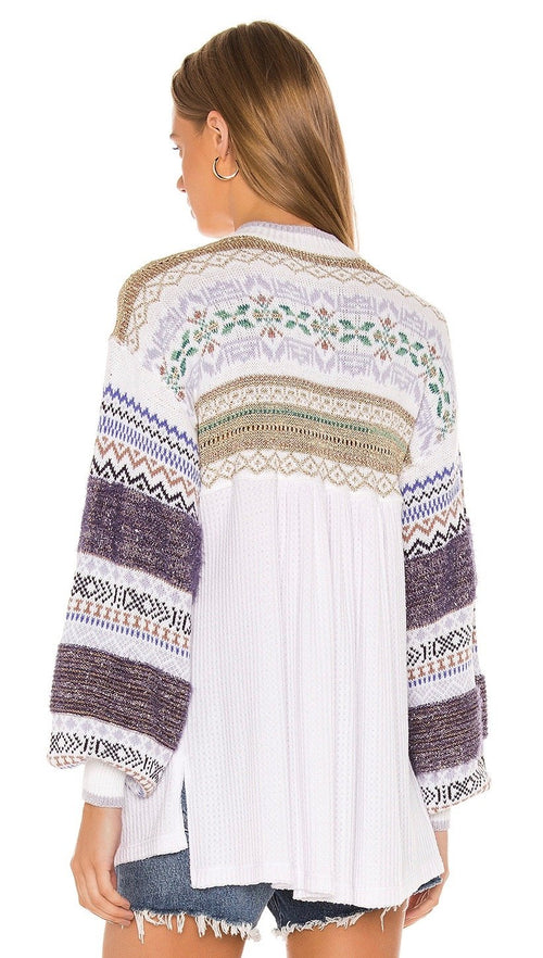 Free People Free People Cabin Fever Sweater Knit White I ShopAA