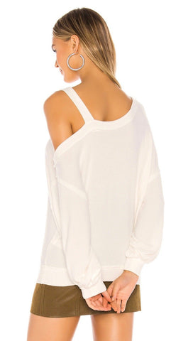 Free People Flaunt It Pullover Tee Ivory Dolman Long Sleeve Top I ShopAA