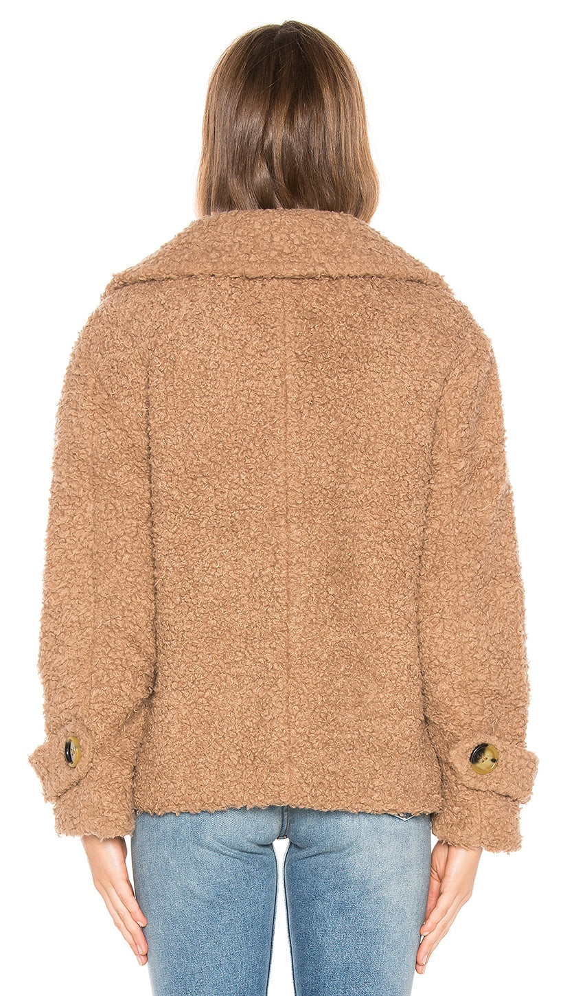Free People So Soft Cozy Peacoat Brown Coat Jacket Fur | ShopAA