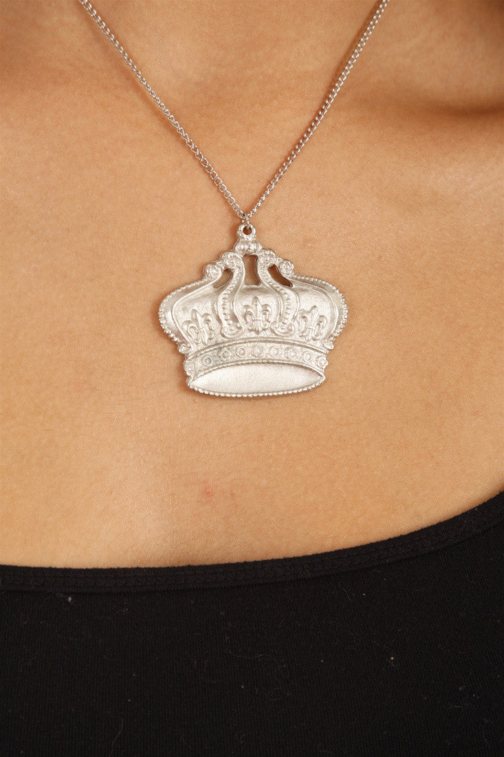 Funky Girl Bling Jewelry Funky Crown Necklace