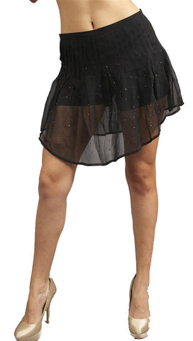 Funktional Kristi Rhinestone Skort in Black