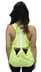 Funktional T-Back Tank in Neon Yellow