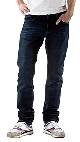 Goodsociety Mens Organic Denim Straight Leg Jeans Natural Dye Cobalt Blue