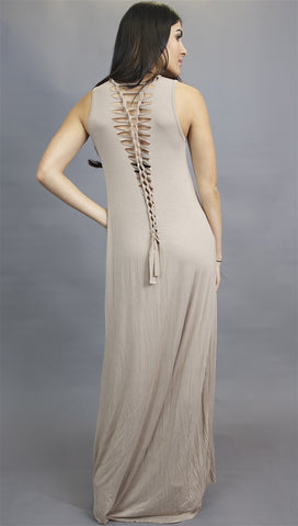 Gypsy Junkies Axel Dress in Stone