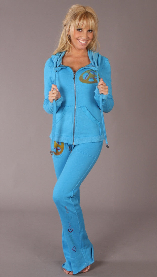Gypsy 05 Riley Foldover Sweatpants Turquoise