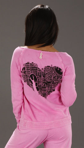 Gypsy 05 City Love Distressed Top in Pink