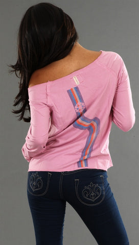 Gypsy 05 Evolve Raglan Top in Pink