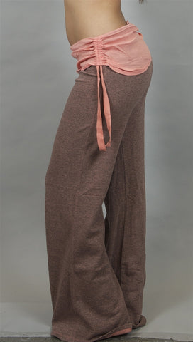 Gypsy 05 Chloe Cotton Gauze Wide Leg Pants in Rose
