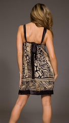 Hale Bob Velvet Animal Print Dress