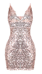 The Stacey Sequin Mini Dress Champagne