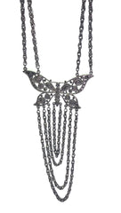 ShopAA Jewelry Silver Large Butterfly Chain Necklace