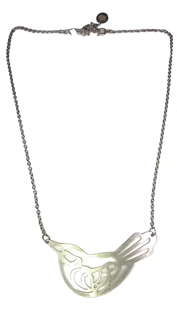 ShopAA Make A Wish Silver Love Bird Cut Out Charm Necklace Jewelry