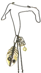 ShopAA Jewelry Nature Charm Necklace Antique Gold